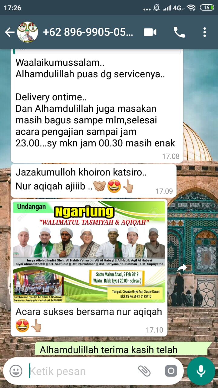 delivery ontime masakan enak