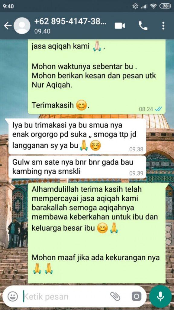 Harga Kambing Aqiqah Tangerang murah enak