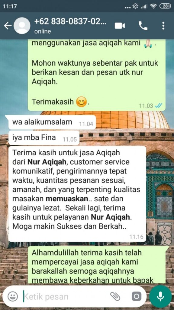 Biaya Aqiqah di Tangerang Selatan