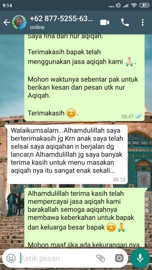 Catering Untuk Aqiqah di Kota Tangerang Selatan