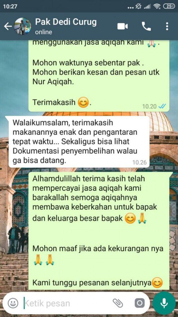 Paket Aqiqah Kota Tangerang