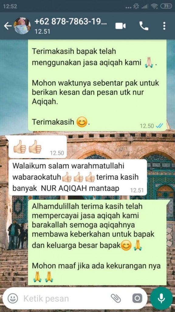 Harga Catering Aqiqah di Kota Tangerang Selatan