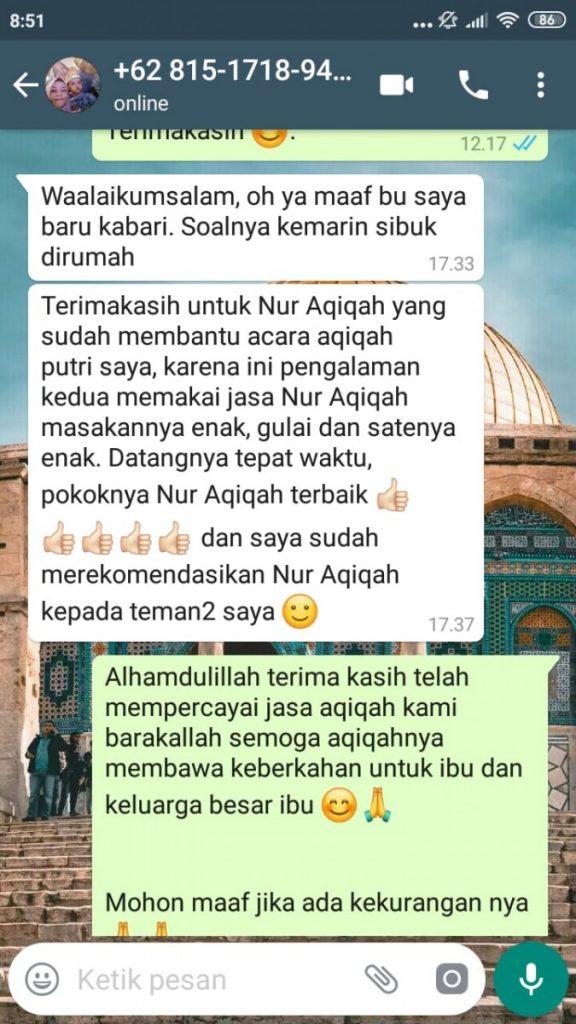 Paket Aqiqah Tangerang Selatan 2020